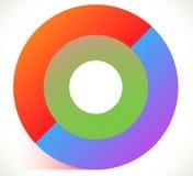 3d abstract circle icon with transparent shadow. Circle icon. Circle logo  - Royalty free vector illustration Royalty Free Stock Image