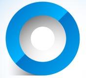 3d abstract circle icon with transparent shadow. Circle icon. Circle logo  - Royalty free vector illustration Stock Image