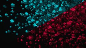 3D Abstract Color Platonic Composition, Background, Rendering.  Stock Photos