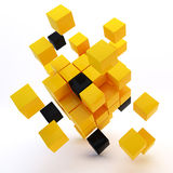 3d abstract colored cubes Stock Photos