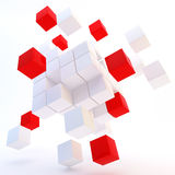 3d abstract colored cubes on white Royalty Free Stock Images