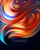 3d Abstract colorful fluid design. Vector illustration. EPS10 Stock Image