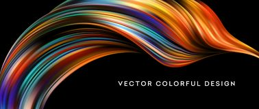 3d Abstract colorful fluid design. Vector illustration. EPS10 Royalty Free Stock Photos