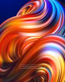 3d Abstract colorful fluid design. Vector illustration. EPS10 Stock Photos