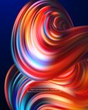 3d Abstract colorful fluid design. Vector illustration. EPS10 Stock Photography
