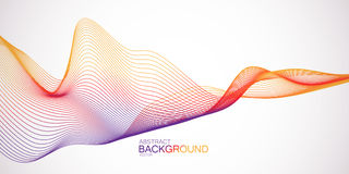 3D abstract colorful wireframe wave. Futuristic vector illustration. Abstract background Stock Photos