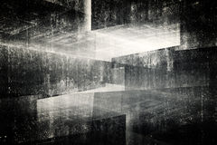 3d abstract concrete interior background Stock Image