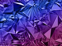 3d abstract crystal background, blue purple fashion wallpaper, faceted geometrical texture. 3d abstract crystal background, blue purple fashion wallpaper of vector illustration