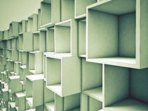 3d abstract cube background. 3d abstract green cube  background Stock Images