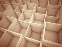 3d abstract cube background Stock Images
