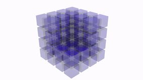 3D abstract cube Royalty Free Stock Images