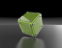 3d abstract cube. Transparent cube for your graphic design Stock Photos