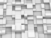3d abstract cube wall. 3d illustration of abstract wall design created with cubes Stock Photography