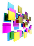 3d Abstract cubes arrangement Royalty Free Stock Photography