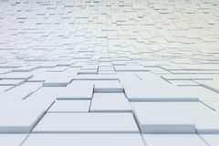 3d abstract cubes background. On white Stock Image