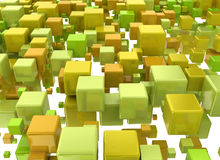 3d abstract cubes Stock Photography