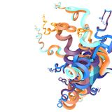 3d abstract curved shapes Royalty Free Stock Image