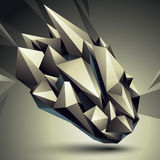 3D  abstract design object, polygonal complicated figure. Stock Photography