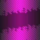 3d abstract die vierkant op zwarte purpere achtergrond wordt geïsoleerd Stock Afbeelding