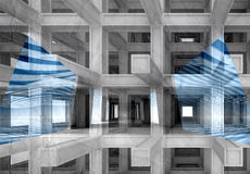 3d abstract digital background. With modern braced construction Stock Photos