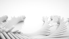 3d abstract construction. 3d abstract float of white construction Royalty Free Stock Photo