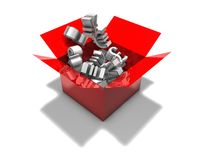 3d abstract forex market concept illustration isolated Stock Photography