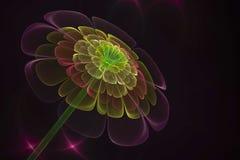 3D abstract fractal bloemcomputer geproduceerd beeld stock illustratie