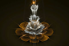 3D abstract fractal flower computer generated image. Background design Royalty Free Stock Photography