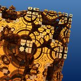 3D abstract fractal illustration. Illustration for graphic design Stock Photo