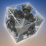 3D abstract fractal illustration. Illustration for graphic design Stock Image