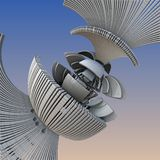 3D abstract fractal illustration. Illustration for graphic design Royalty Free Stock Image