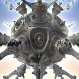 3D abstract fractal illustration. Illustration for graphic design Royalty Free Stock Photos