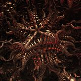 3D abstract fractal illustration. Illustration for graphic design Royalty Free Stock Images