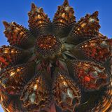 3D abstract fractal illustration. Illustration for graphic design Royalty Free Stock Photo