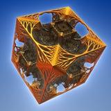 3D abstract fractal illustration. Illustration for graphic design Stock Images