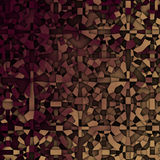 3d abstract fragmentation geometric in beige and deep red Royalty Free Stock Photo