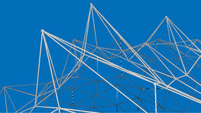 3d abstract framework construction. On blue background Royalty Free Stock Photos