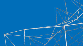 3d abstract framework construction. 3d abstract wireframe framework construction on blue background Royalty Free Stock Photo