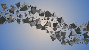 3d abstract geometric background with cloud of triangles stock footage