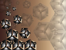 3d abstract geometric background Stock Photo