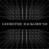 3D Abstract geometric background. 3D Abstract geometric vector background with aberration effect Royalty Free Stock Photo