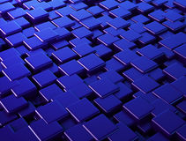 3D Abstract geometric blue cubes. Digital background Royalty Free Stock Images