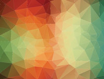 2D Abstract geometric colorful background stock illustration