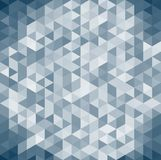 3D abstract geometric dark blue triangle isometric view backgrou. Nd and texture, vector illustration Royalty Free Stock Images