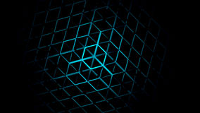 3D Abstract Geometric Neon Background. 3d Rendering Stock Photo