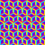 3d abstract geometric seamless background. Vector Royalty Free Stock Photography