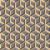 3d abstract geometric seamless background. Vector illustration. Can be used for wallpaper, web page background, book cover Stock Photo