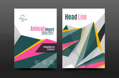 3d abstract geometric shapes. Modern minimal composition. Business annual report cover design. Vector abstract background Stock Photography