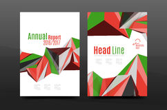 3d abstract geometric shapes. Modern minimal composition. Business annual report cover design. Vector abstract background Royalty Free Stock Image