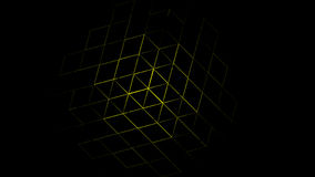 3D Abstract Geometric Yellow Background. 3d Rendering Royalty Free Stock Photo